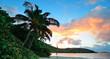 Beach sunset panorama