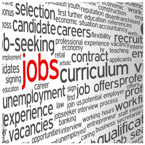 JOBS Tag Cloud (vacancies careers cv offers search hiring)