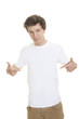 blank white t shirt model