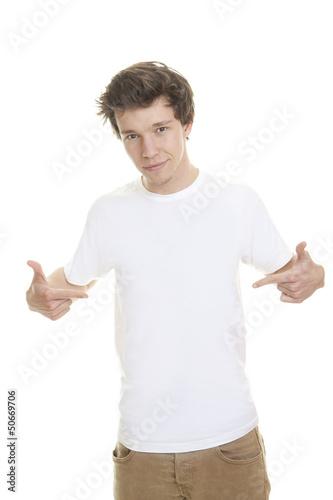 blank white t shirt model