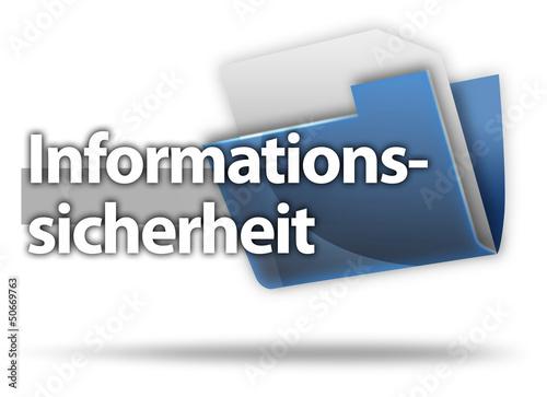 """3D-Style Mappe """"Informationssicherheit"""""""