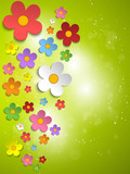Fototapety Beautiful Spring White Flowers Background