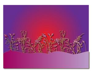 sfondo di fiori sui toni del rosa