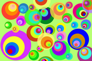 Retro Psychedelic Disco Circles