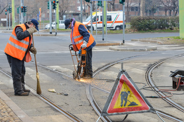 LAvori binari tram