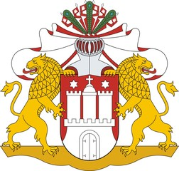 Hamburg. Great Coat of arms