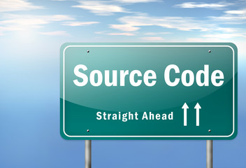 "Highway Signpost ""Source Code"""