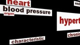 Hypertension medical warning message