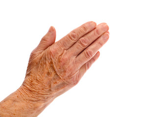 Elderly woman hand