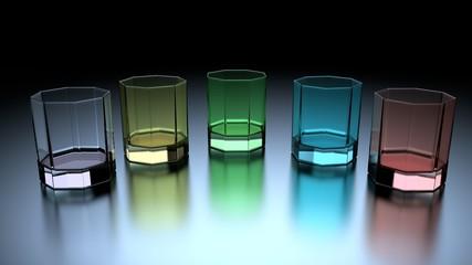 Bunte Gläser