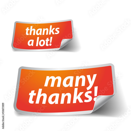Thank you - grateful labels