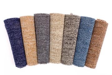 colorful carpet rolls