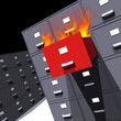 Files on fire (3D)