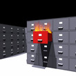 Hot files in a cabinet - 3D