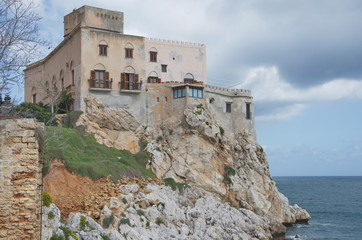 old castle with view over the sea