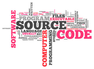 "Word Cloud ""Source Code"""