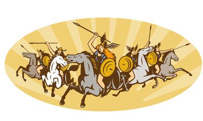 Valkyrie Riding Horse Retro