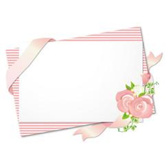 メッセージカード ピンク