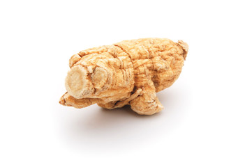 piece of ginseng  on a white background