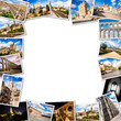 Segovia Collage, photo frame. Castilla y Leon, Spain