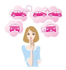 女性ドライバーの心配事車のトラブル