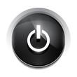 Vector black power button