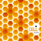 Abstract geometrical honey cells modern template
