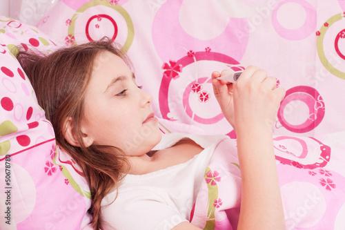 ill girl indoor