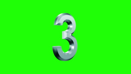 hit parade, counting metallic numerals on a green background