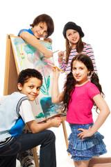 Four very creative kids