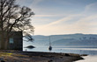 Boathouse on the shore of Lake Windermere