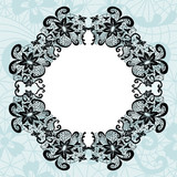 Elegant doily on lace gentle background for scrapbooks