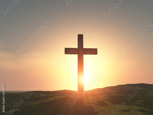 single wooden cross