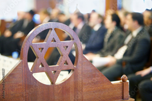 Leinwanddruck Bild Decorative element in the form of a Star of David
