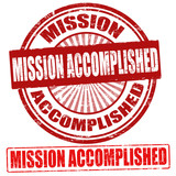 Mission Accomplished stamps poster