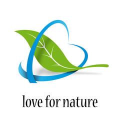Vector Logo Love for Nature