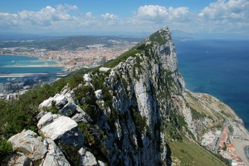 Rock of Gibraltar and sea © Arena Photo UK