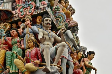 Hindu gods and goddesses at temple
