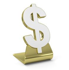"""Dollar Sign"" Golden Icon"