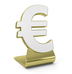 """Euro Sign"" Golden Icon"