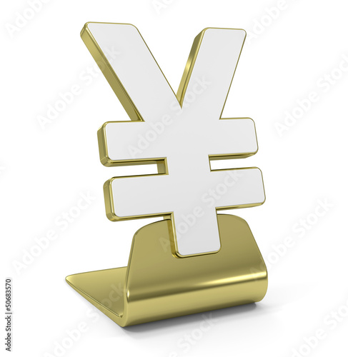"""Yen Sign"" Golden Symbol"