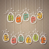 Easter eggs with letters