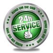 24h-Service - Button - rund um die Uhr