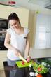 Beautiful woman preparing fresh meal