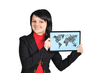 touch pad with world map