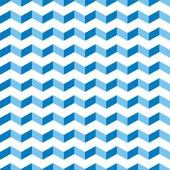 Aztec Chevron blue seamless vector pattern zigzag background