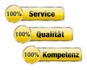 100 % Service, Qualität, Kompetenz