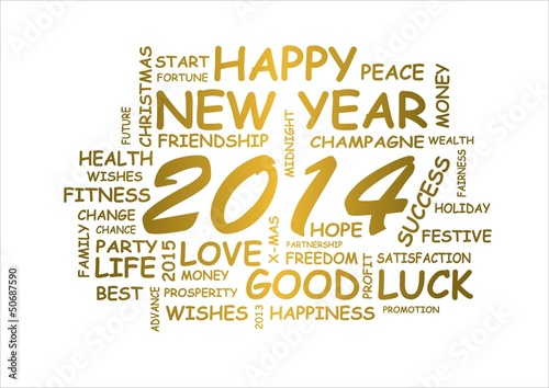 word cloud for new year 2014