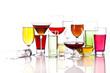 Verschiedene Gläser mit Getränken
