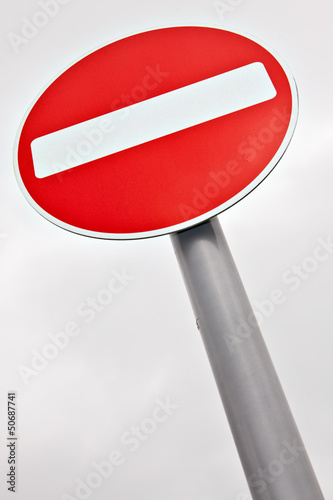 Do not enter traffic sign